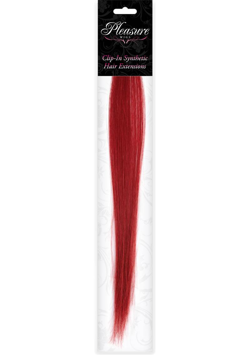 Hair Clip In- Red (disc)